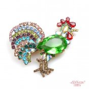 LILIEN(リリアン)Light Green Cock Brooch