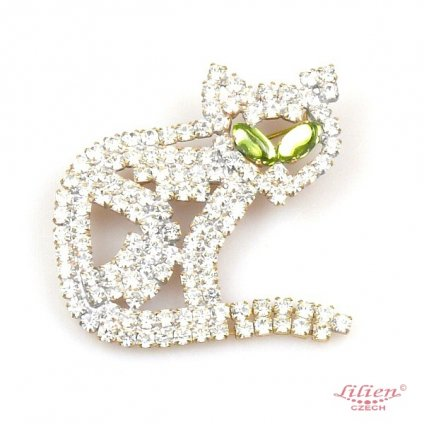LILIEN(リリアン)Green Eye Cat Brooch