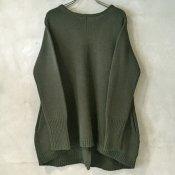 【40%OFF】suzuki takayuki knitted pullover (スズキタカユキニットプルオーバー) <br>Khaki