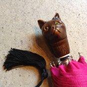 Guy de Jean(ギドゥジャン)折りたたみ傘 猫 Fuchsia Pink