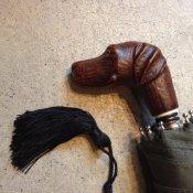 Guy de Jean (ギドゥジャン) 折りたたみ傘 犬 Khaki