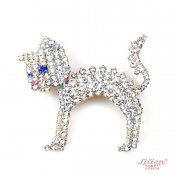 LILIEN(リリアン)Standing White Kitty Brooch
