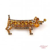 LILIEN(リリアン)Orange Dachshund Brooch