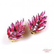 LILIEN(リリアン)Shocking Pink Leaf Earring