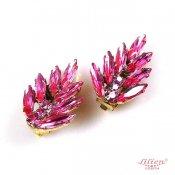 【30%OFF】LILIEN(リリアン)Shocking Pink Leaf Earring