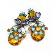 LILIEN(リリアン)Sky-blue Flower Earring
