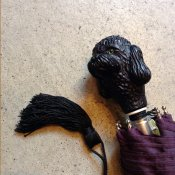 Guy de Jean (ギドゥジャン) 折りたたみ傘 黒プードル Prune