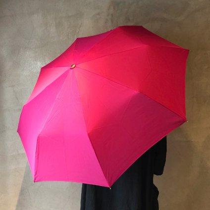 Guy de Jean (ギ ドゥ ジャン) 折りたたみ傘 白プードル Fuchsia Pink
