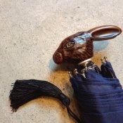 Guy de Jean (ギドゥジャン) 折りたたみ傘 ウサギ Navy