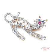 LILIEN(リリアン)Clear Cat Brooch