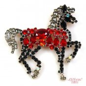 LILIEN(リリアン)Black Horse Brooch