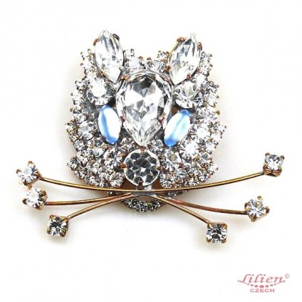 LILIEN(リリアン)White Cat Face Brooch