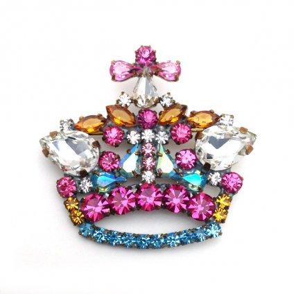 LILIEN(リリアン)Pink Crown Brooch
