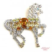 LILIEN(リリアン)Yellow Horse Brooch