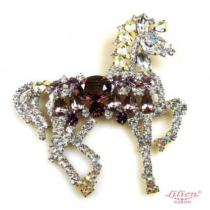 LILIEN(リリアン)Purple Horse Brooch
