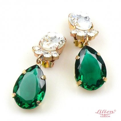 LILIEN(リリアン) Green Teardrop Earring