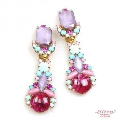 LILIEN(リリアン)Pastel Purple Multi-Color Earring