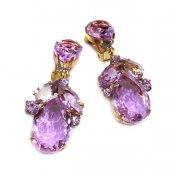 LILIEN(リリアン)Purple Oval Earring