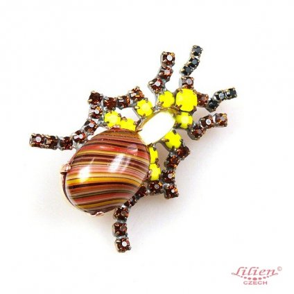 LILIEN(リリアン)Brown Beetle Brooch