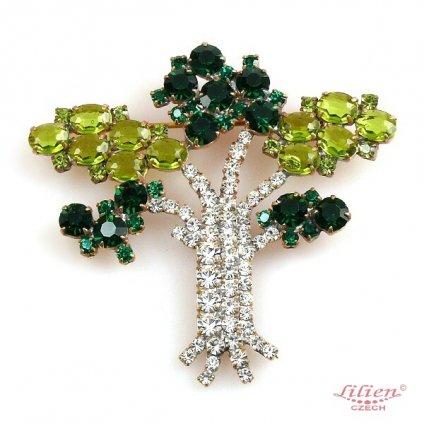 LILIEN(リリアン)Green Tree Brooch
