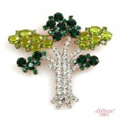 LILIEN(リリアン)Green Tree Brooch