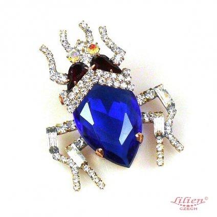 LILIEN(リリアン) Midnight Blue Beetle Brooch