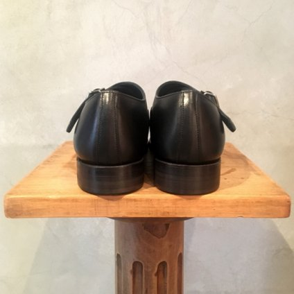 【30%OFF】BEAUTIFUL SHOES(ビューティフルシューズ)Singlemonk Shoes Black Kip