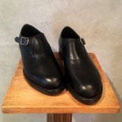 BEAUTIFUL SHOES(ビューティフルシューズ)Singlemonk Shoes Black Kip