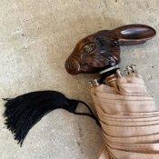 Guy de Jean (ギドゥジャン) 折りたたみ傘 ウサギ Beige