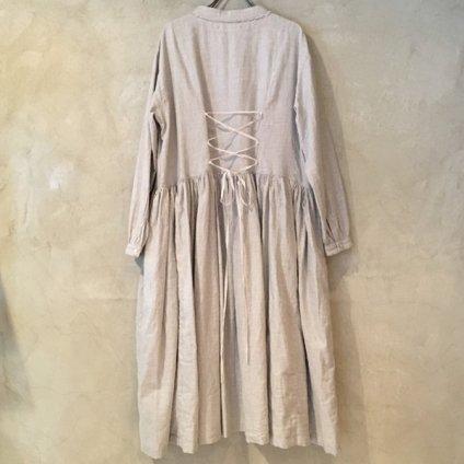 ikkuna/suzuki takayuki gathered dress (イクナ/スズキタカユキ ギャザードドレス) Gray