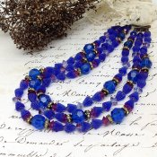 1950's Hattie Carnegy Glass Beads Necklace (1950年代 ハッティー・カーネギー ガラスビーズ ネックレス)