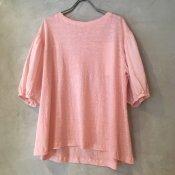 【40%OFF】ikkuna/suzuki takayuki puff-sleeve t-shirts (イクナ/スズキタカユキ パフスリーブTシャツ) Light coral