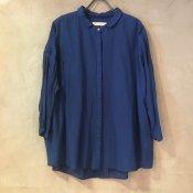 ikkuna/suzuki takayuki gathered-shirts (イクナ/スズキタカユキ ギャザードシャツ)Cobalt blue