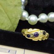 Victorian Sapphire×Diamond Ring (ヴィクトリアン サファイア×ダイヤモンド リング)