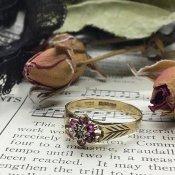 1922年 Art Deco Ruby×Diamond Ring (1922年 アールデコ ルビー×ダイアモンド リング)