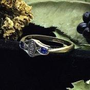 1920's Sapphire×Diamond Ring (1920年 サファイア×ダイヤモンド リング)