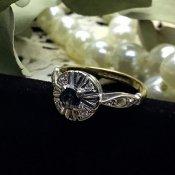 Art deco Sapphire×Diamond Ring (アールデコ サファイア×ダイヤモンド リング)