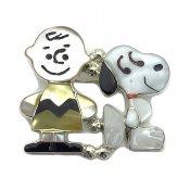 Paula Leekity Brooch Pendant top Snoopy and Charlie Brown (ポーラ リーキティ ブローチ・ペンダントトップ スヌーピー&チャーリー・ブラウン)