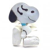 Paula Leekity Ring Snoopy(ポーラ リーキティ リング9.5号 スヌーピー全身 青い首輪)