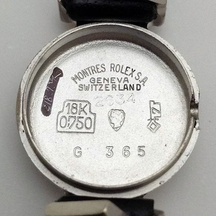 ROLEX PRECISION(ロレックス  プレシジョン)18KWG 純正尾錠付