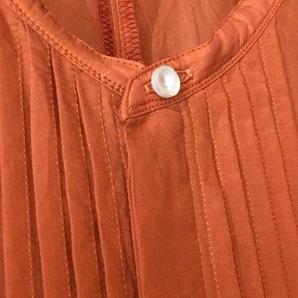 suzuki takayuki gatherd dress (スズキタカユキ ギャザードレス) Orange