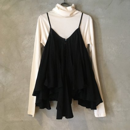 suzuki takayuki camisole blouse (スズキタカユキ キャミソールブラウス) Black