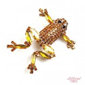 LILIEN(リリアン)Amber Frog Brooch