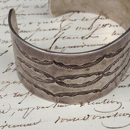 Stamped Ingot Silver Bracelet (スタンプ インゴット シルバー バングル)