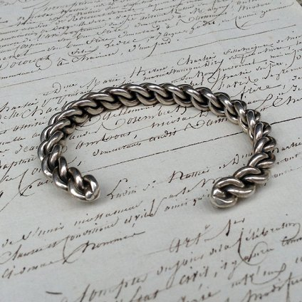 Braided Wire Silver Bracelet (ワイヤー シルバー バングル)