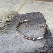 Twisted Square Wire Silver Cuff Bracelet (ツイステッドスクエアワイヤー シルバー バングル)