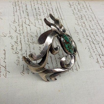 Turquoise Cast Silver Bracelet(ターコイズ キャストシルバーバングル)