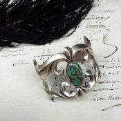 Cast Silver×Turquoise Cuff Bracelet (シルバー×ターコイズ バングル)