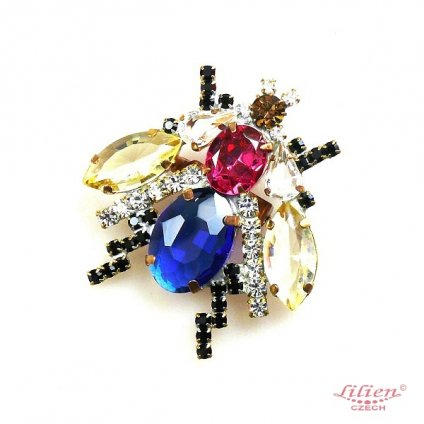 LILIEN(リリアン)Blue Insect Brooch