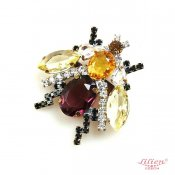 LILIEN(リリアン)Purple Insect Brooch